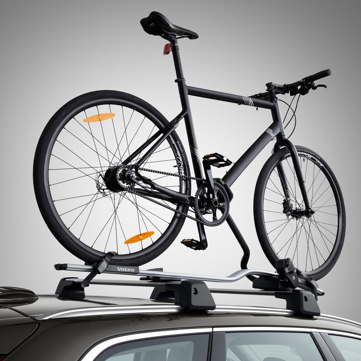 Aluminijast nosilec za kolesa z držalom okvirja