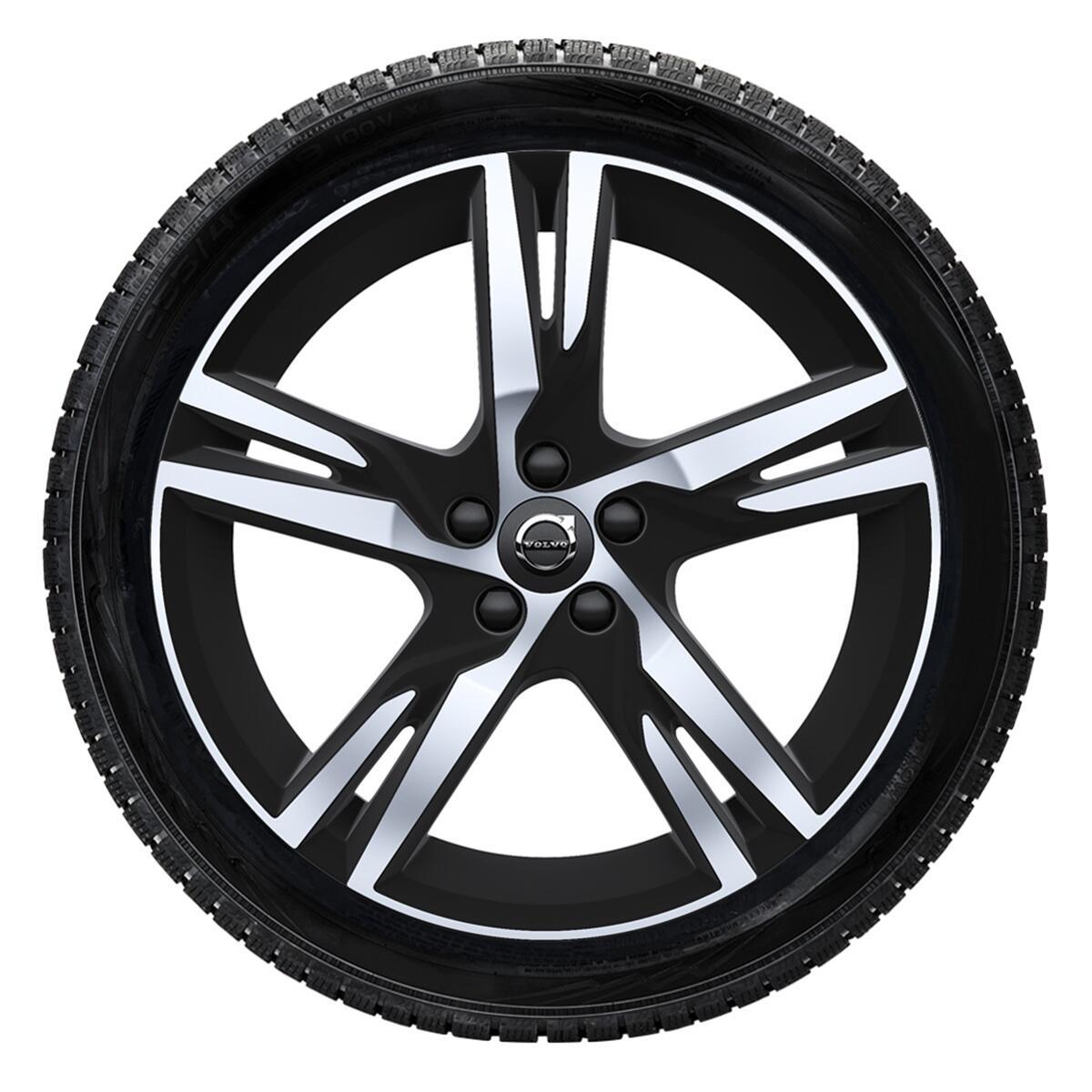 """Komplet zimskih kotača: 235/55 R18; 18""""; naplatci s 5 dvostrukih krakova i crnim mat dijamantnim zav"""