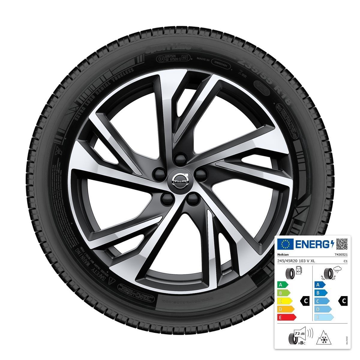 "Komplet zimskih koles: 50,08 cm (20""), pnevmatike Nokian"