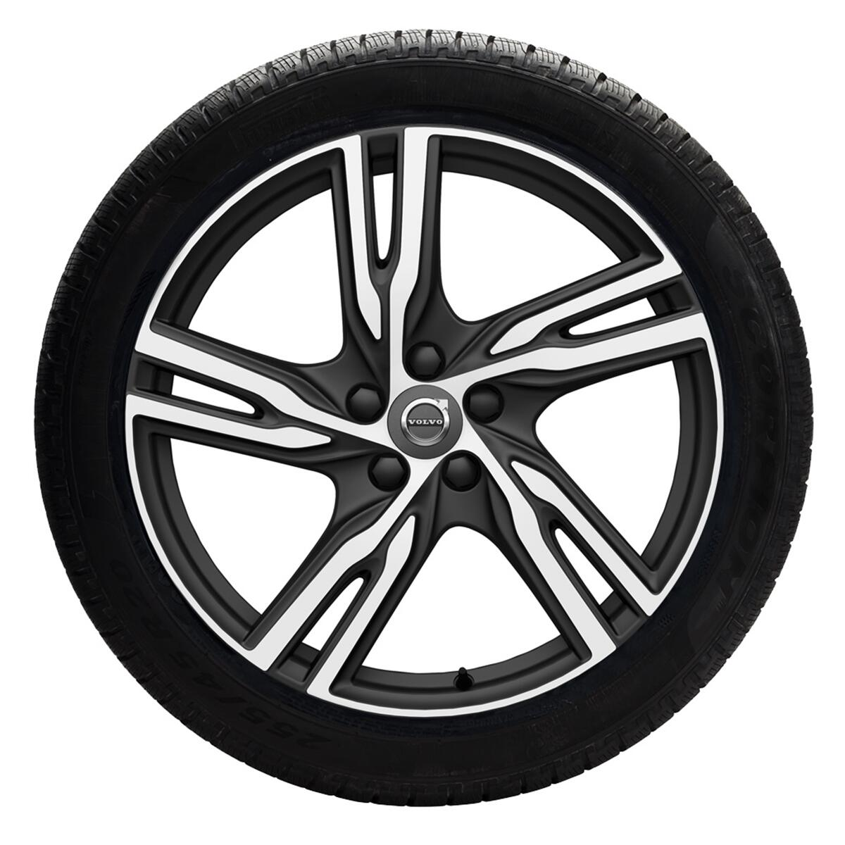 Komplet zimskih točaka 235/55 R18; 5-Double Spoke Matt Black Diamond, guma Nokian