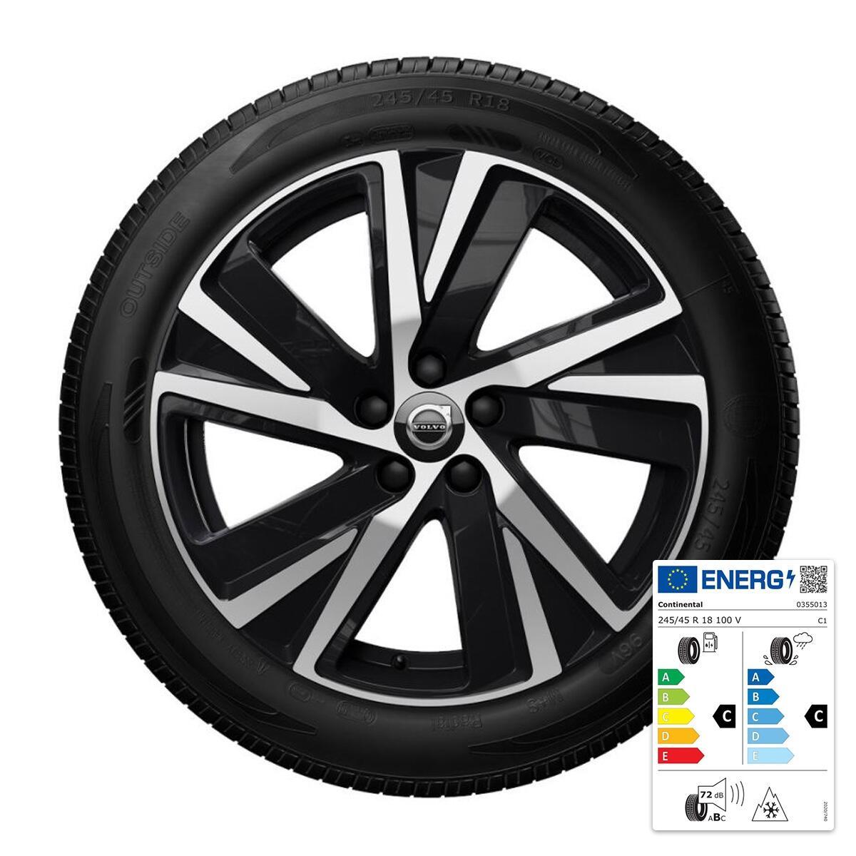 "Komplet zimskih koles:  45,70 cm (18""), pnevmatike  Continental"