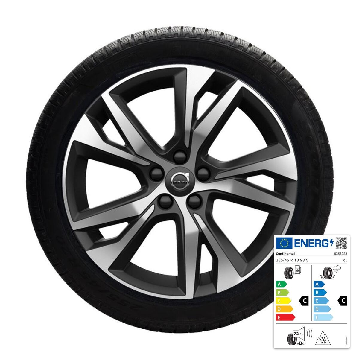 "Komplet zimskih koles:  45,70 cm 18"", pnevmatike  Continental"